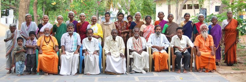 Old age people group photo